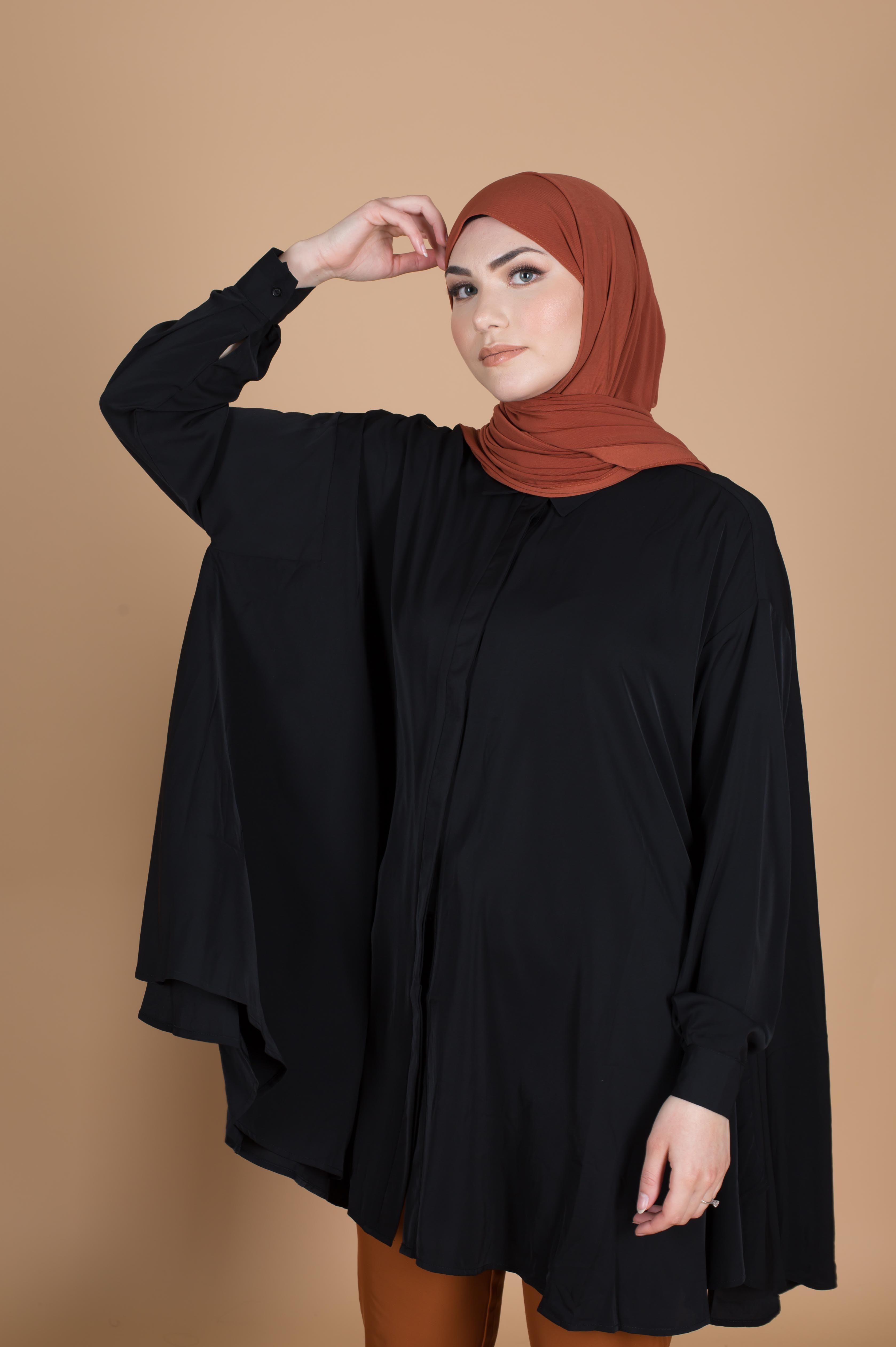 Blouse extra loose noir