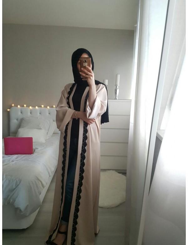 Abaya LINDA black lace