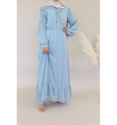 Robe meryem bleu