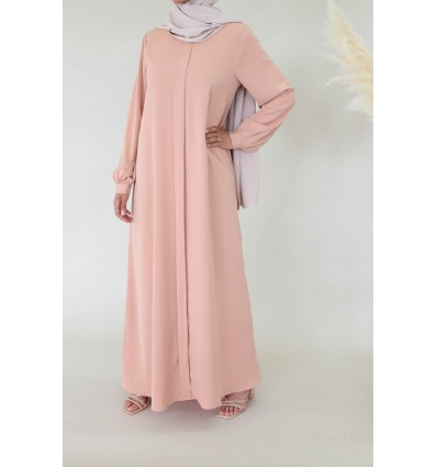 Abaya extra ample peche