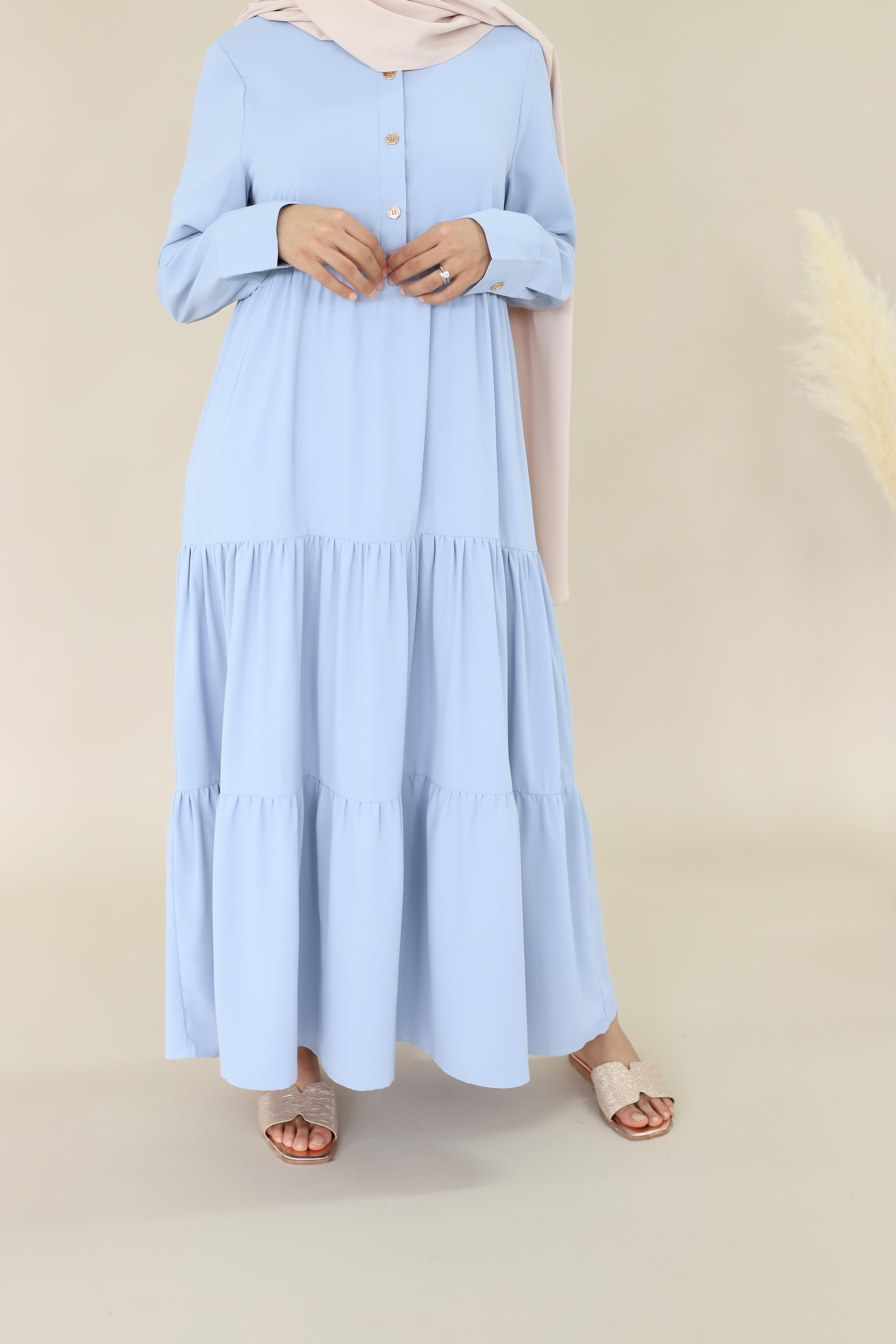 Robe longue jouda bleu