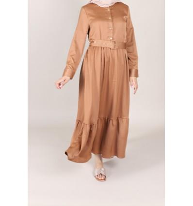 Robe chemsy camel