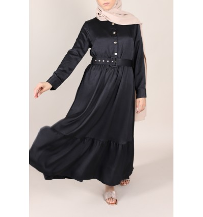 Robe longue chelsy noir
