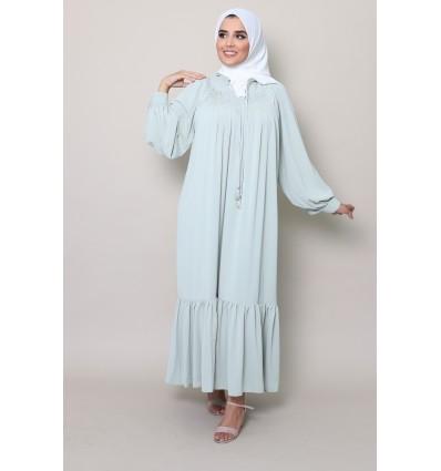 Robe sarah vert eau