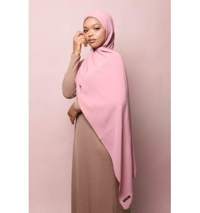 Hijab soie de medine rose