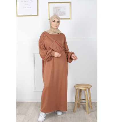 Robe pocket camel