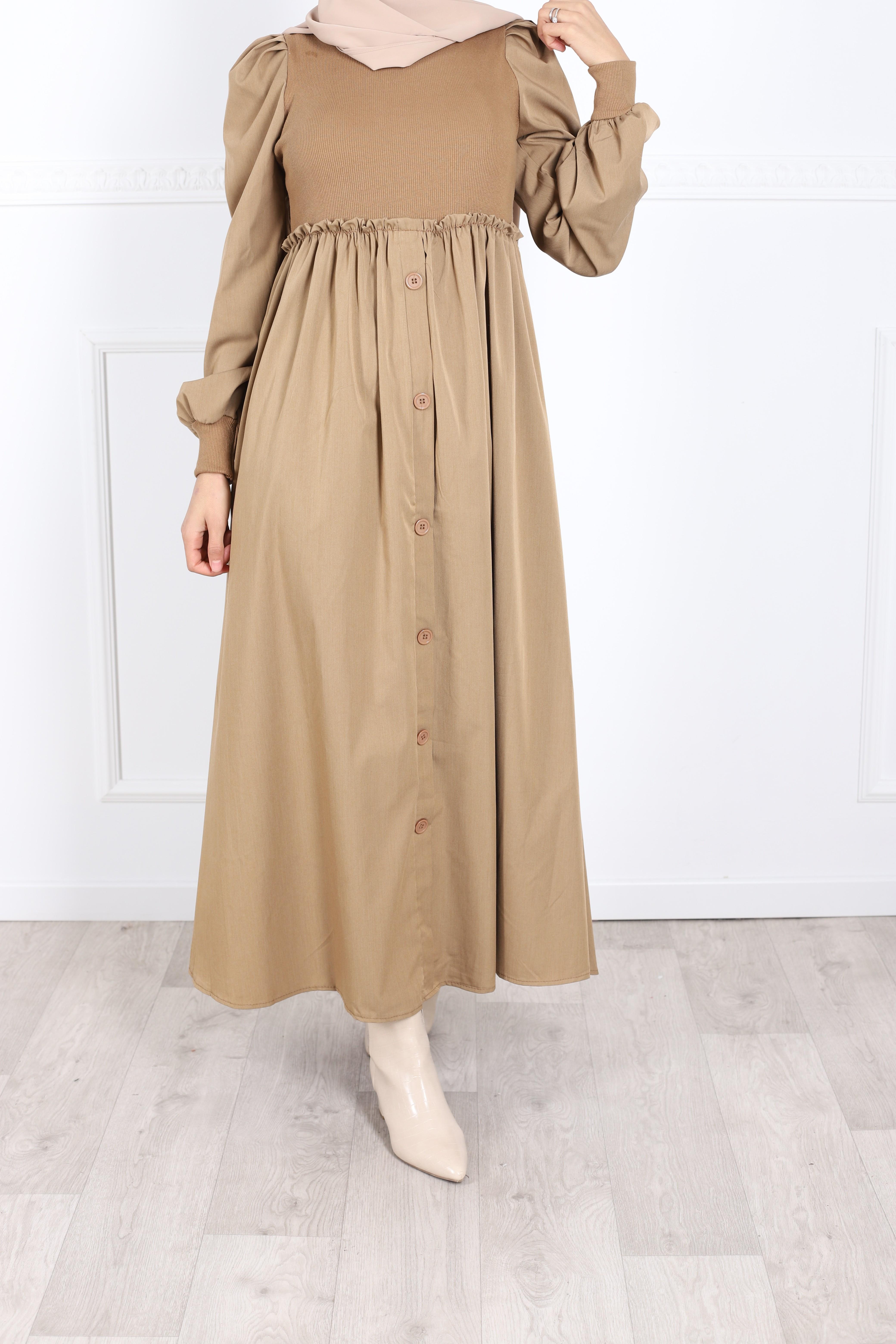Robe dora camel
