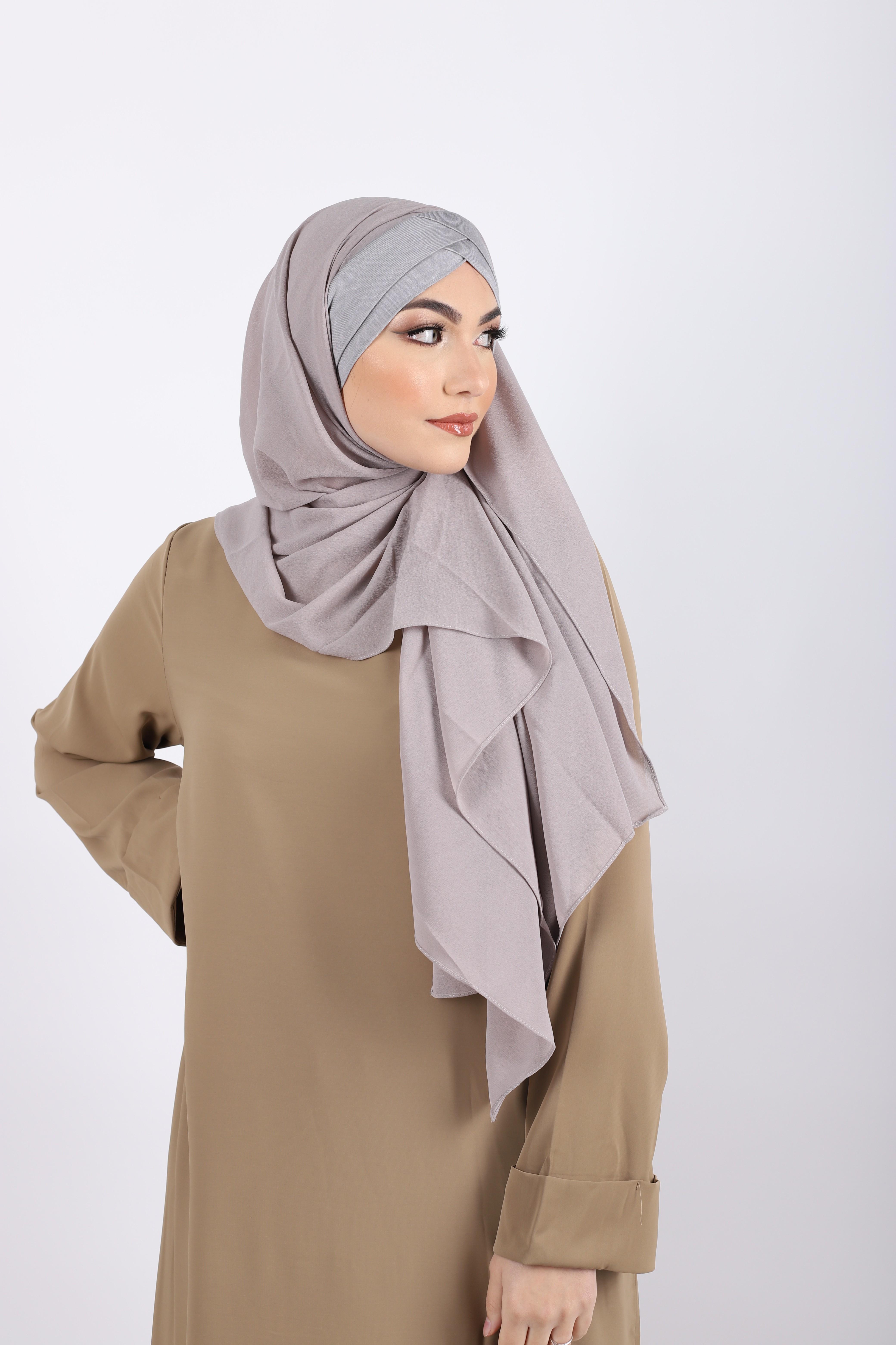 Hijab a enfiler bonnet gris