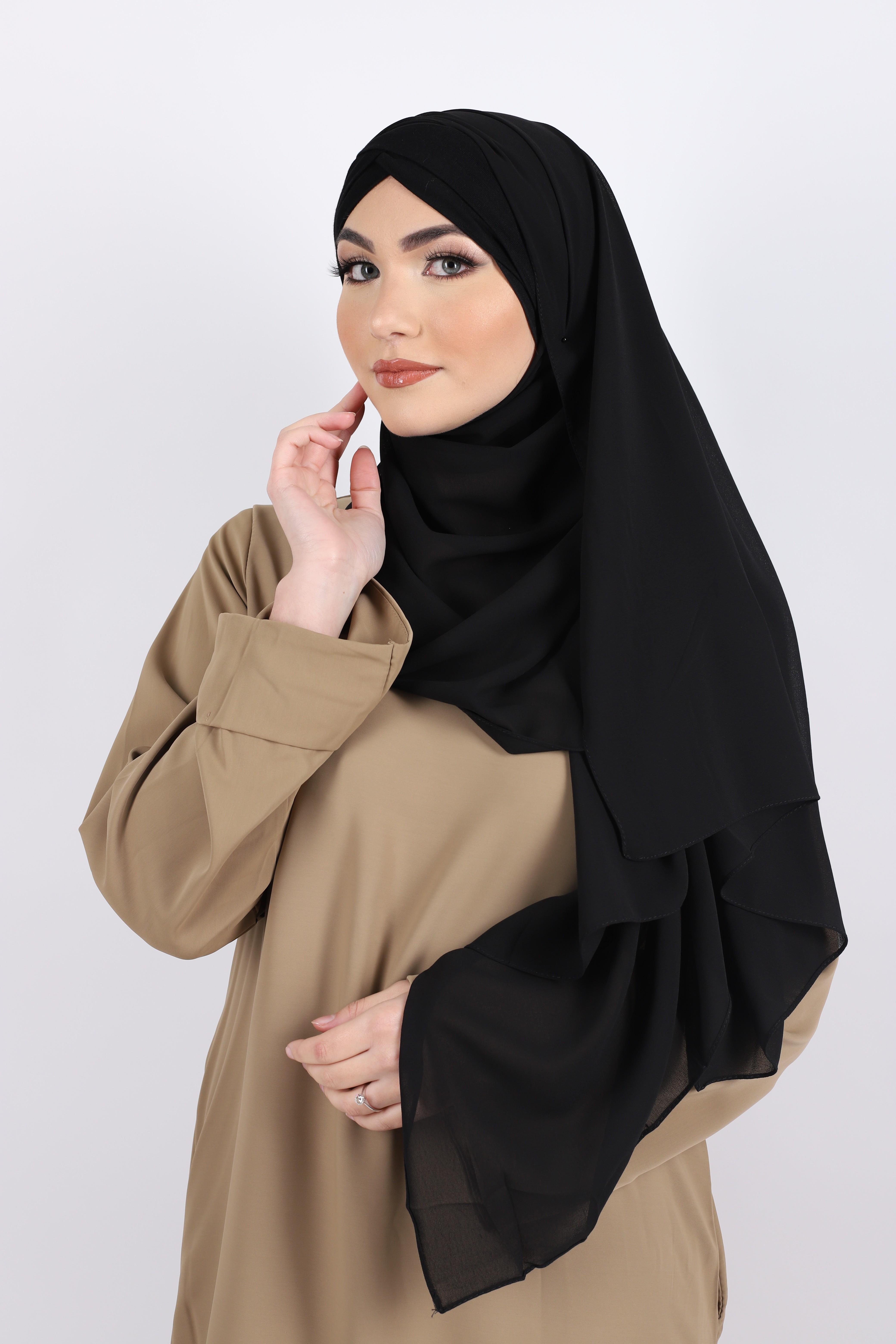 Hijab a enfiler bonnet noir
