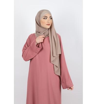 Hijab a enfiler bonnet taupe