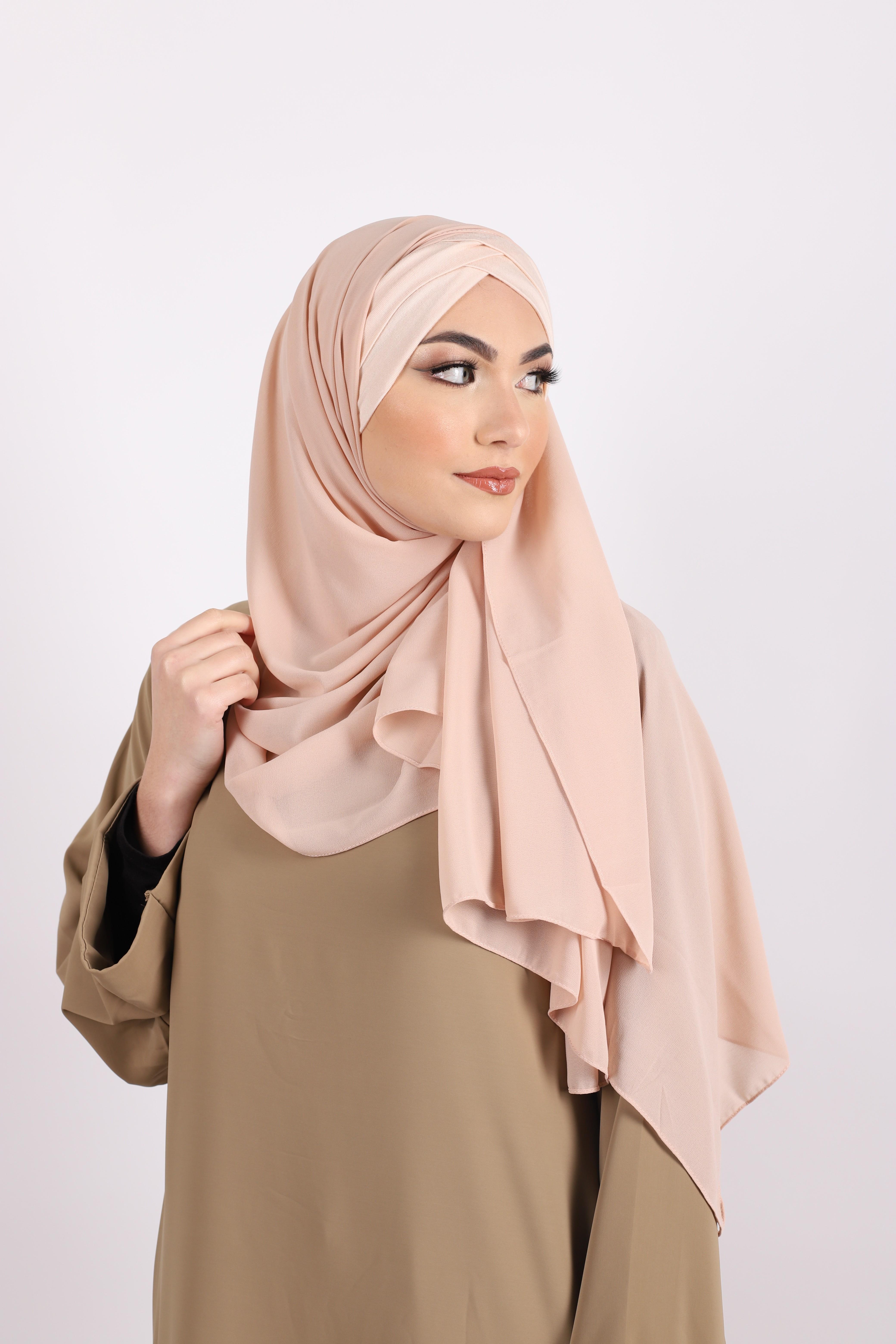 Hijab a enfiler bonnet nude
