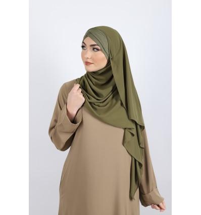 Hijab a enfiler bonnet olive