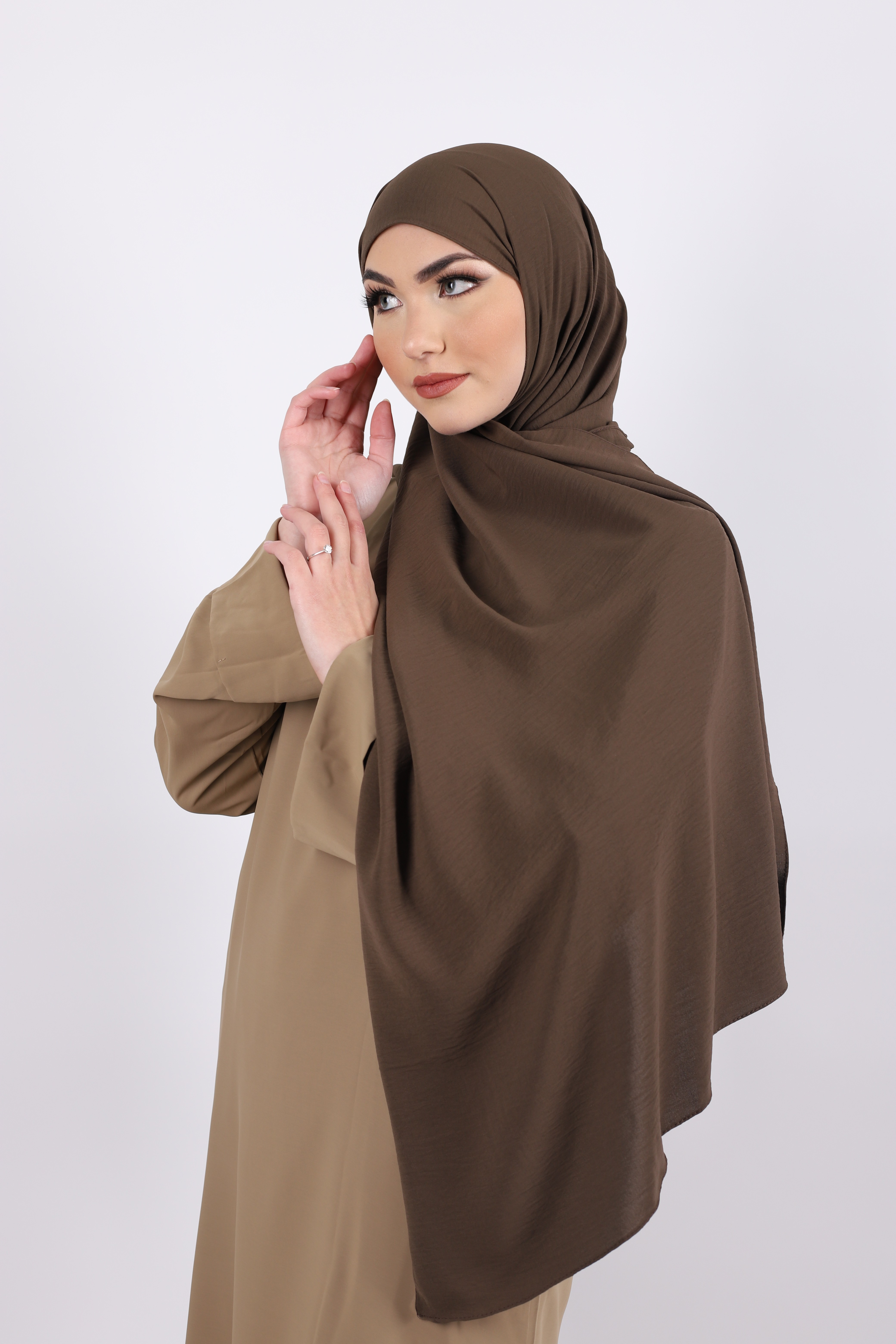 Hijab jazz marron