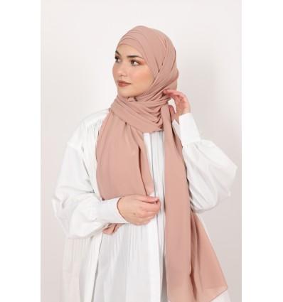 Hijab à enfiler mousselinerose