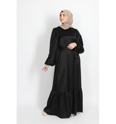 Robe satiné noir
