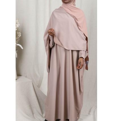 Abaya amira taupe clair