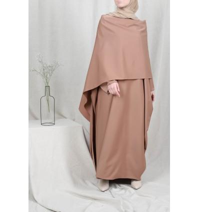 Abaya amira taupe foncé