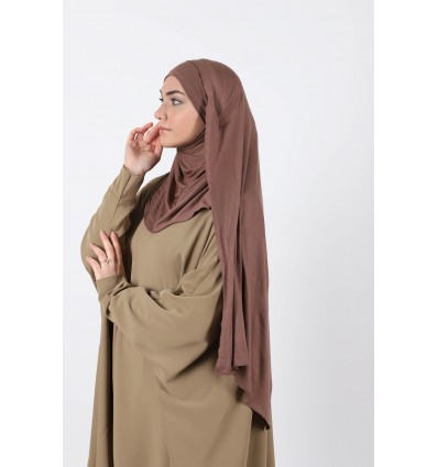 Hijab a enfiler chocolat