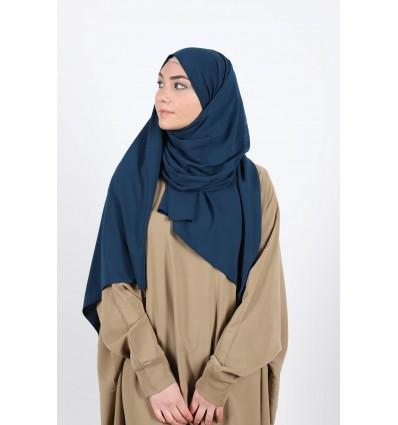 Hijab soie de medine pétrole