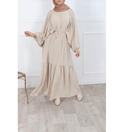 Robe lina beige