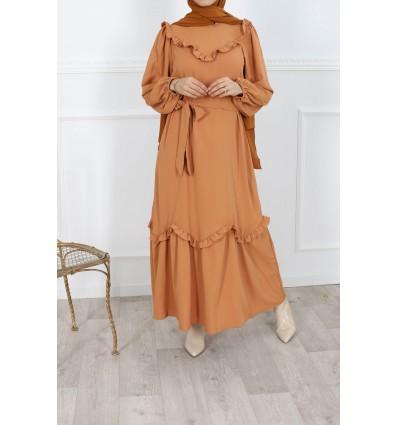 Robe warda camel