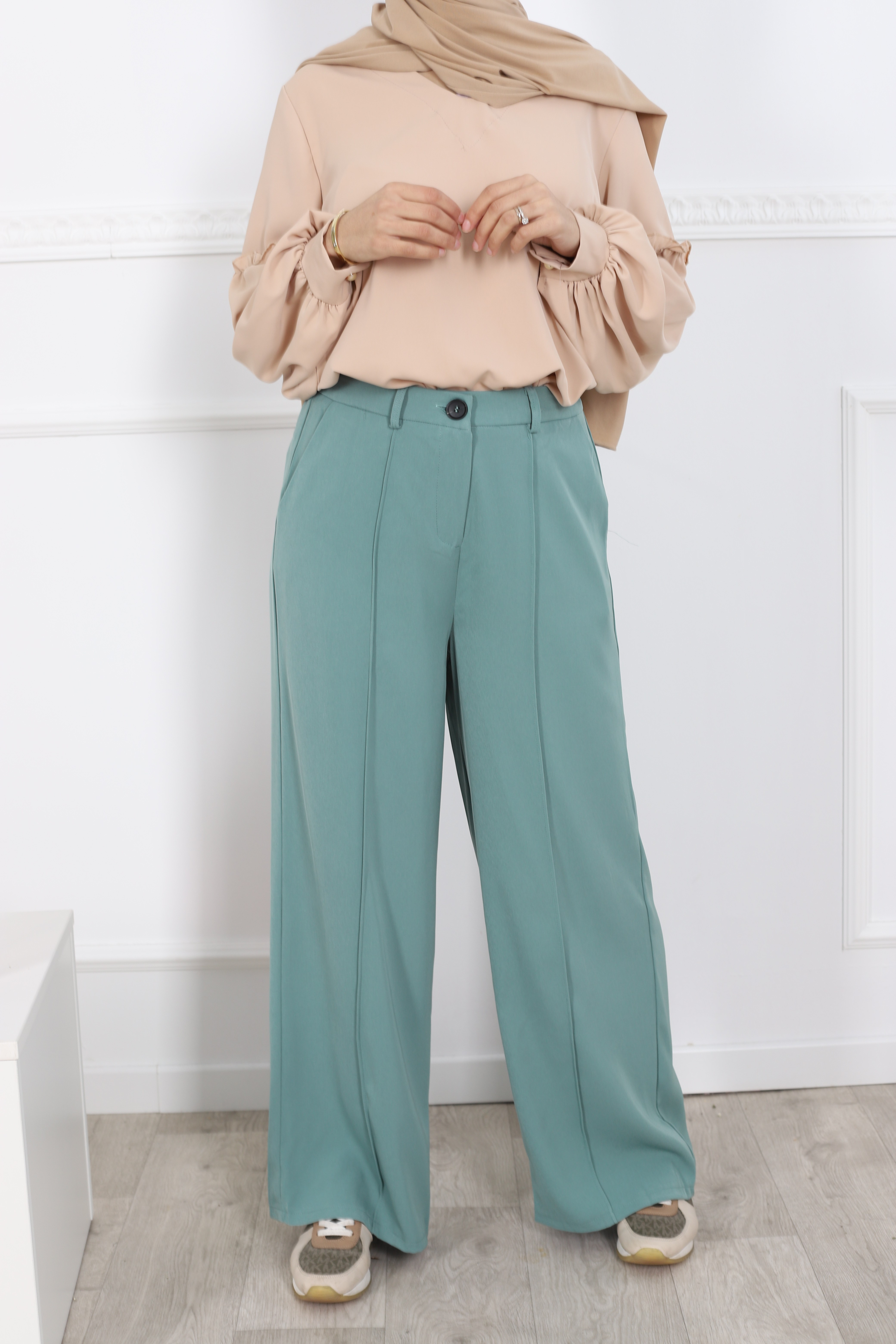 Pantalon ample emeraude
