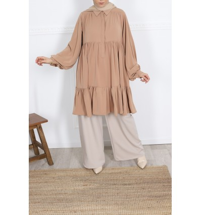 Tunique flufy camel