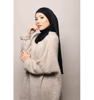 Hijab a enfiler noir
