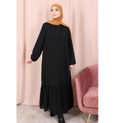 Robe plumetis noir