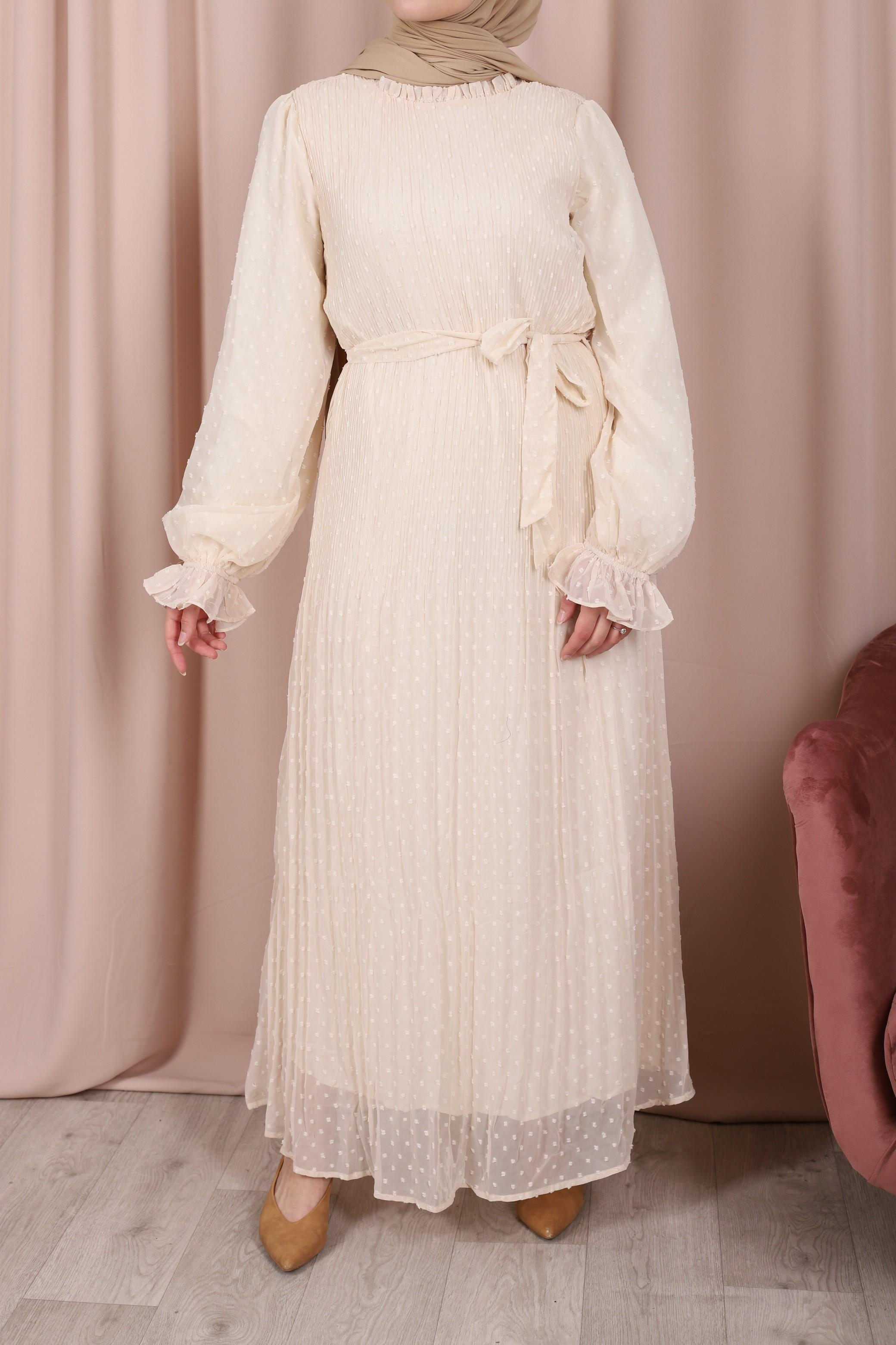 Robe longue zeyneb beige
