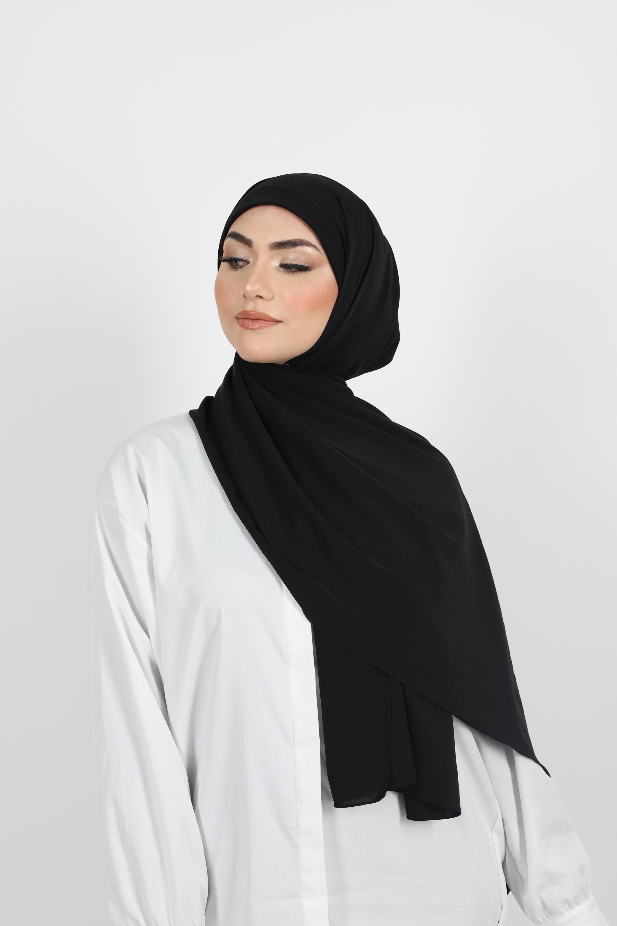 Hijab enfilable noir