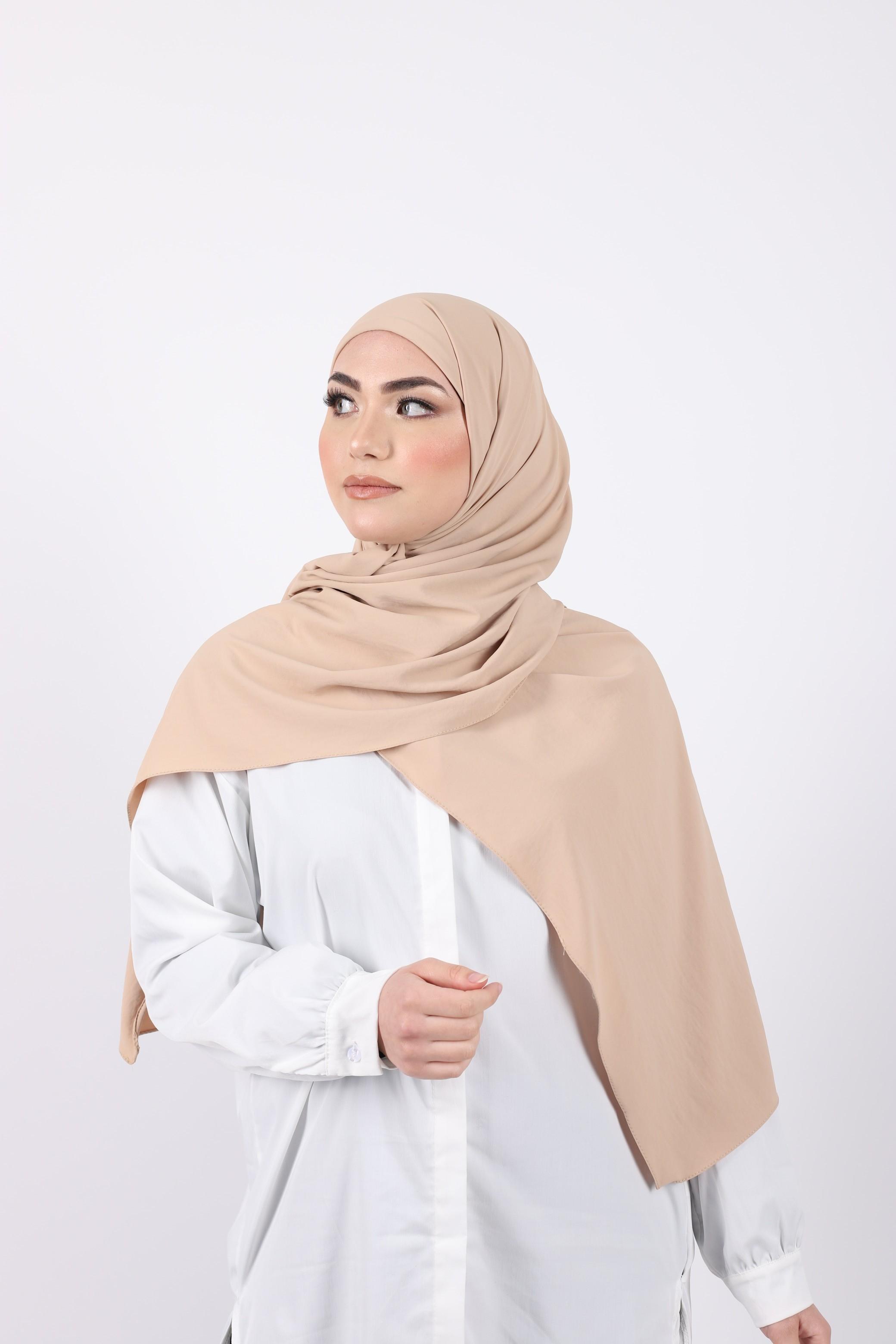 Hijab enfilable beige