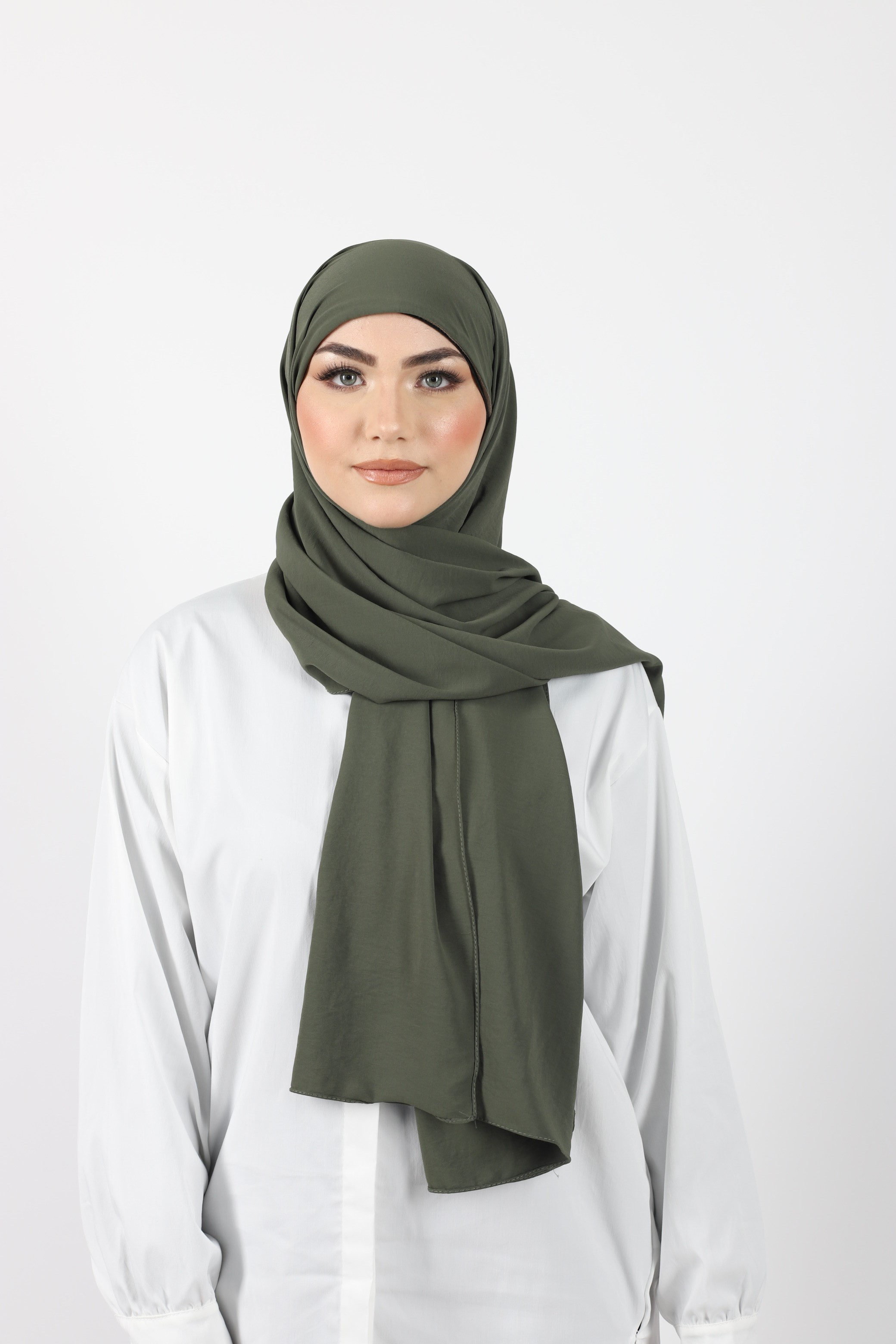 Hijab enfilable olive