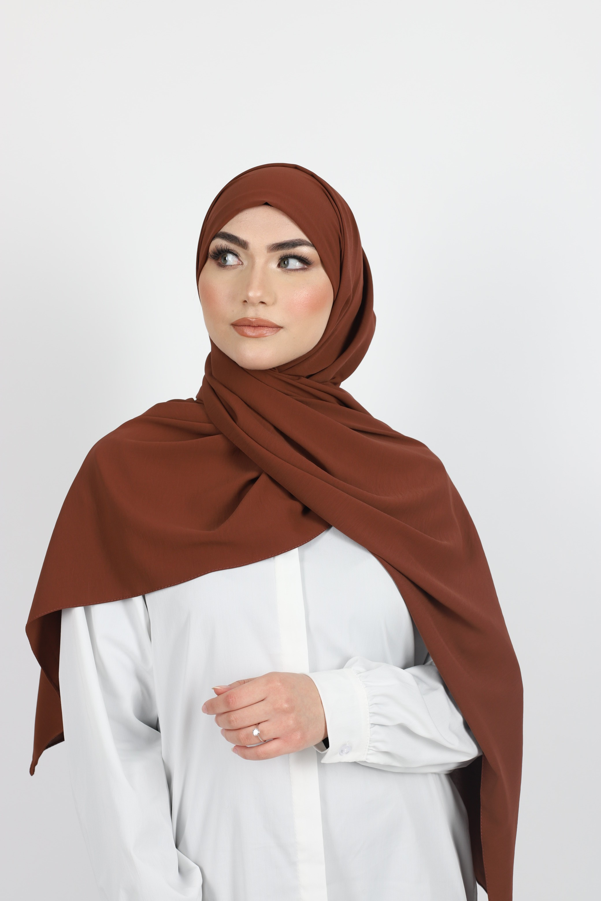 Hijab enfilable terracota