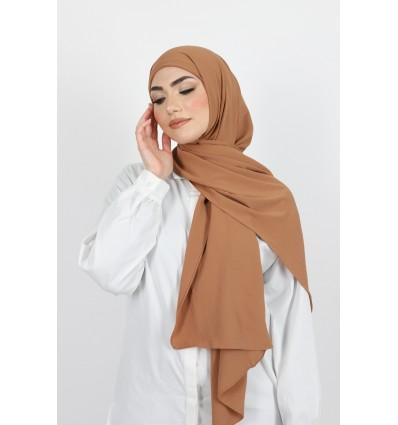 Hijab enfilable camel