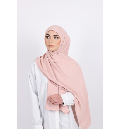 Hijab enfilable rose poudre