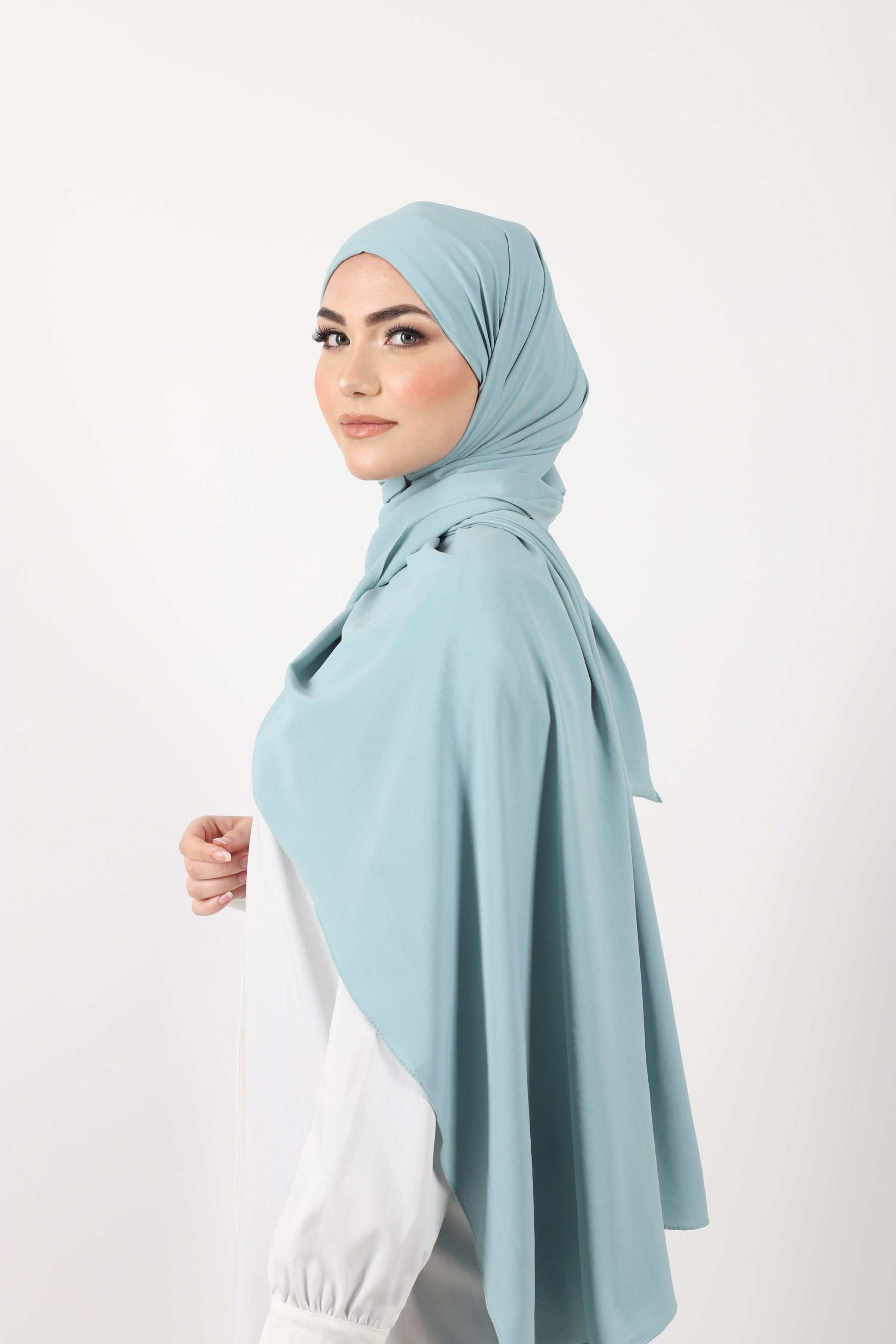 Hijab enfilable menthe