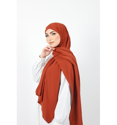 Hijab enfilable rouille