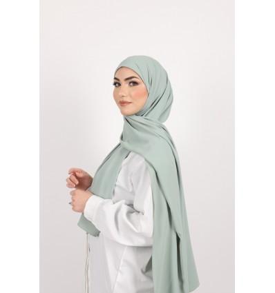 Hijab enfilable vert d'eau