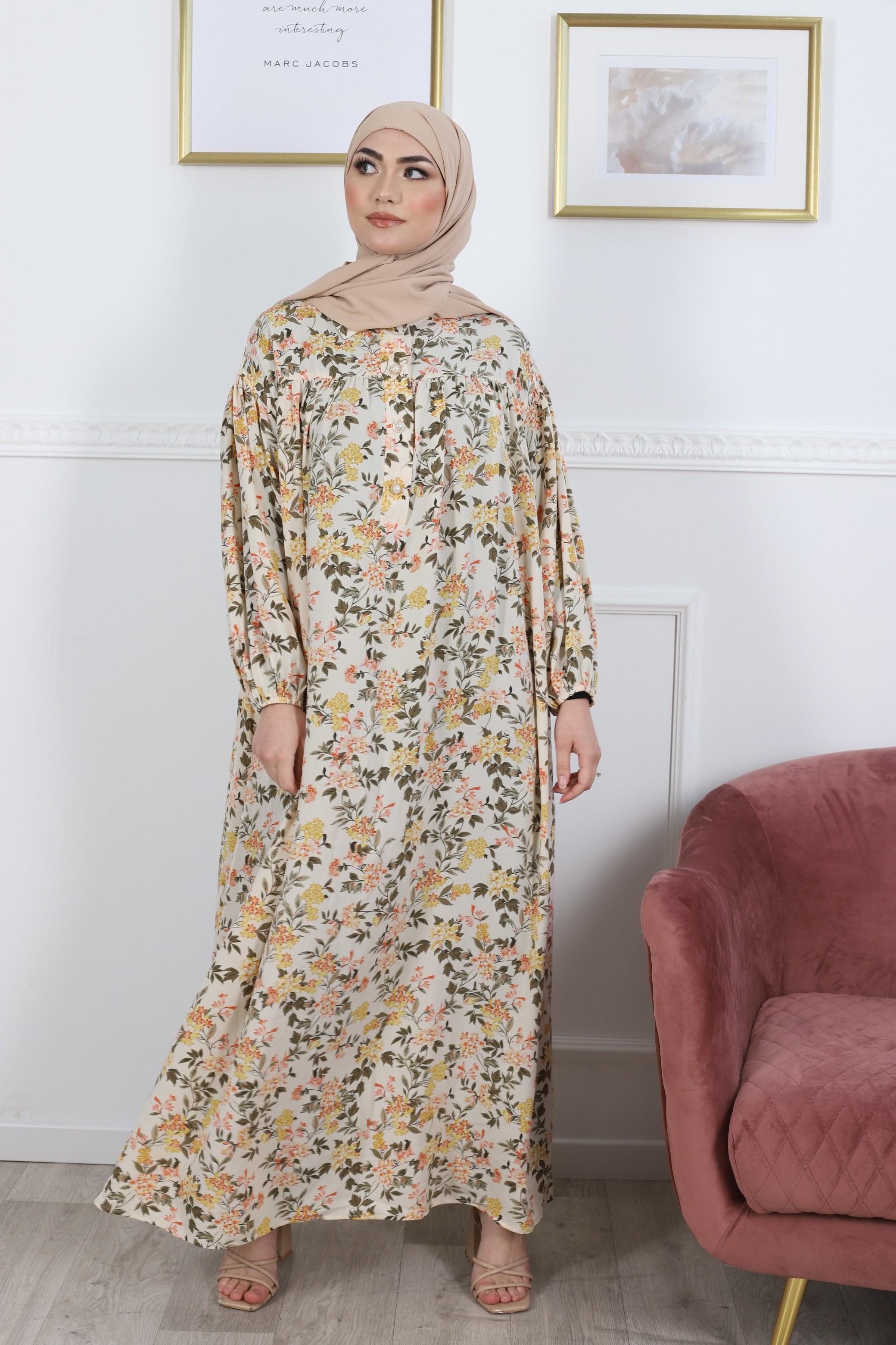 Robe fleurie yellow