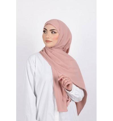 Hijab enfilable rose foncé