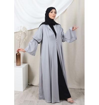 Abaya kimono eva gris