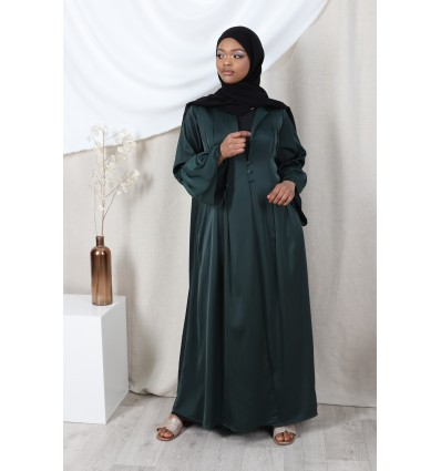 Abaya kimono eva vert sapin