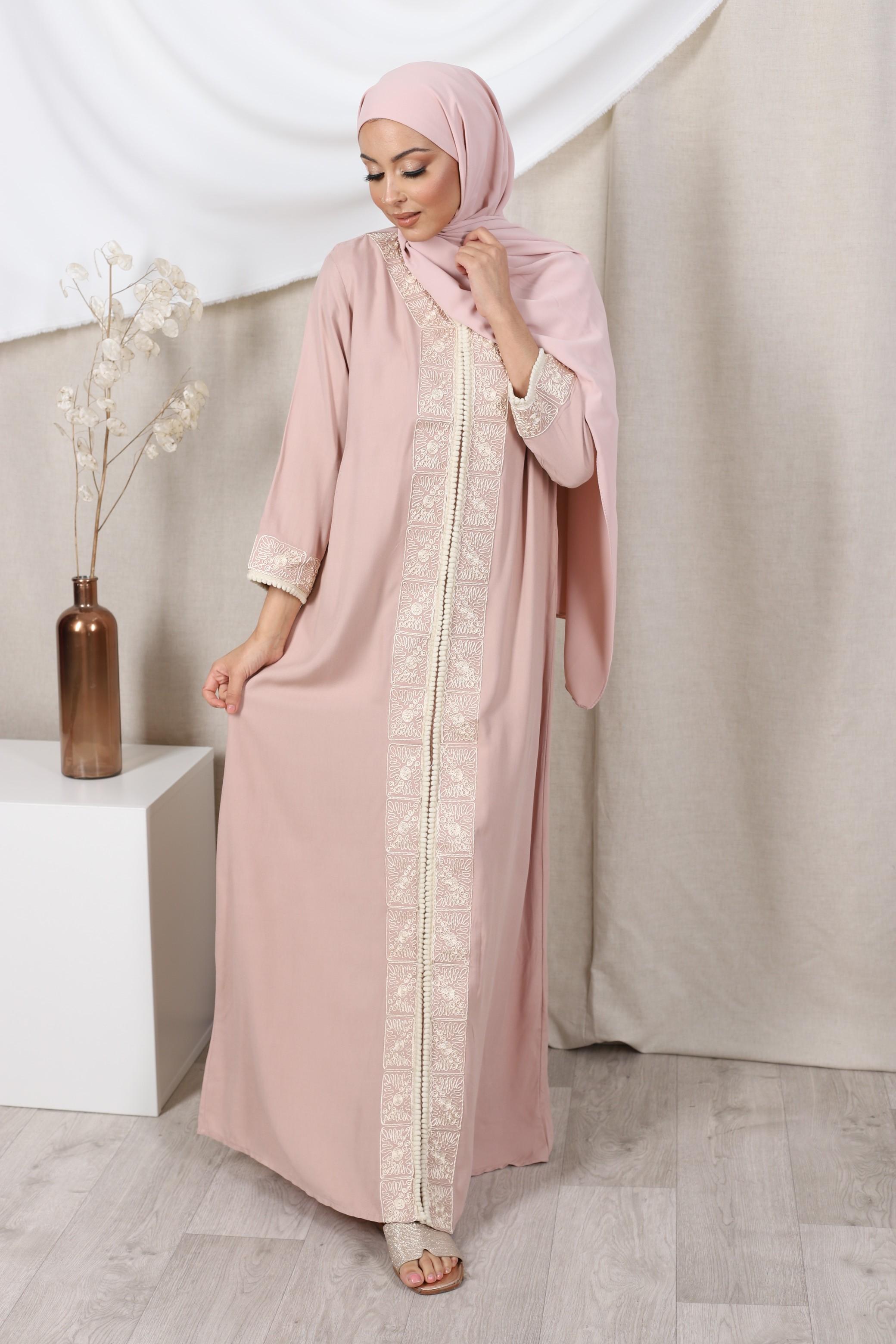 Robe orient rose poudre